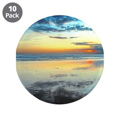 "Blue Bali Sunset 3.5"" Button (10 pack)"