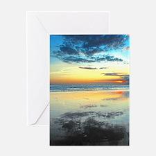 Blue Bali Sunset Greeting Card
