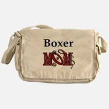 Boxer Dog Mom Gifts Messenger Bag