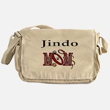 Jindo Dog Mom Messenger Bag