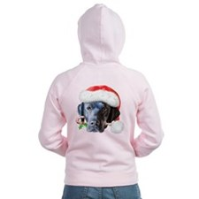 Black Lab Christmas Zip Hoodie