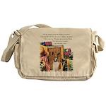 Basenji Art Messenger Bag