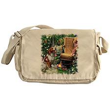 Brittany Spaniel Art Messenger Bag