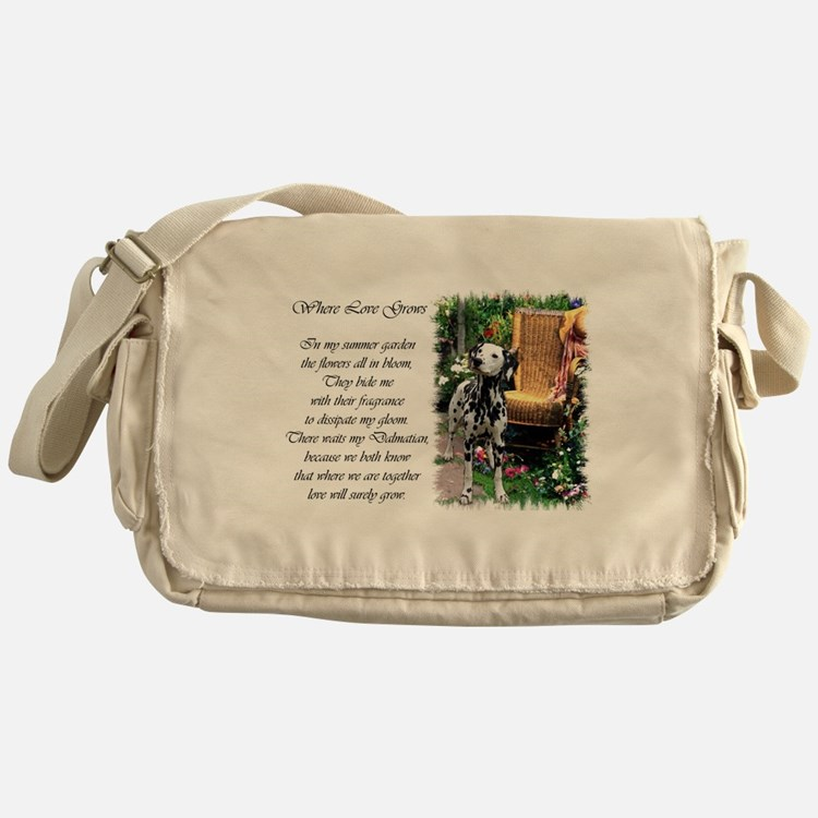 Dalmatian Art Messenger Bag