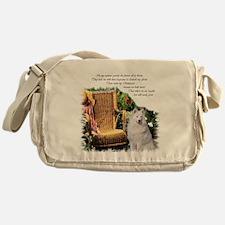 Samoyed Art Messenger Bag