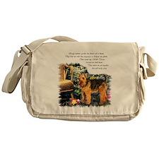 Welsh Terrier Art Messenger Bag