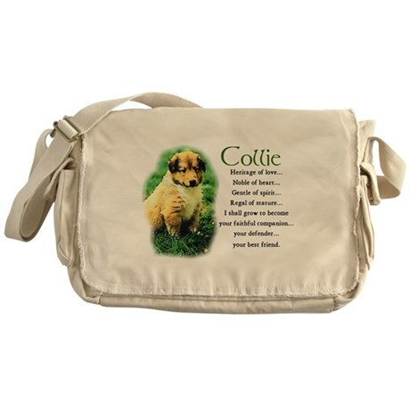 Sable Collie Puppy Messenger Bag