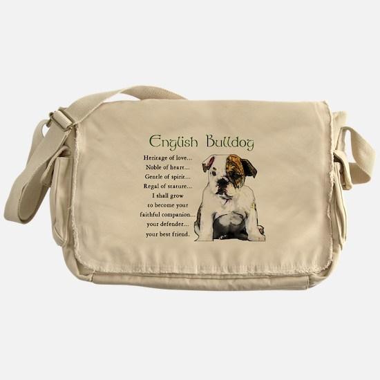 English Bulldog Messenger Bag