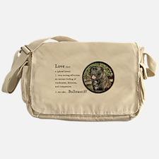 Bullmastiff Love Is Messenger Bag