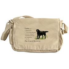 Flat-Coated Retriever Messenger Bag
