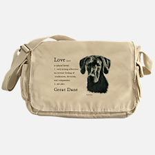 Black Great Dane Messenger Bag