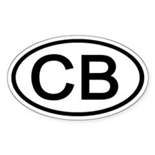 CB - Initial Oval Oval Decal