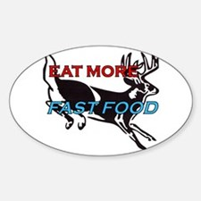 Unique Funny deer hunting Sticker (Oval)