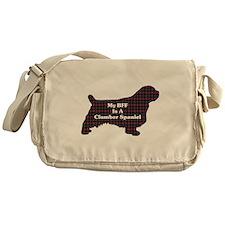 BFF Clumber Spaniel Messenger Bag