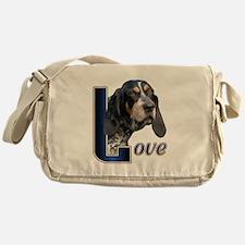 Bluetick Coonhound Love Messenger Bag