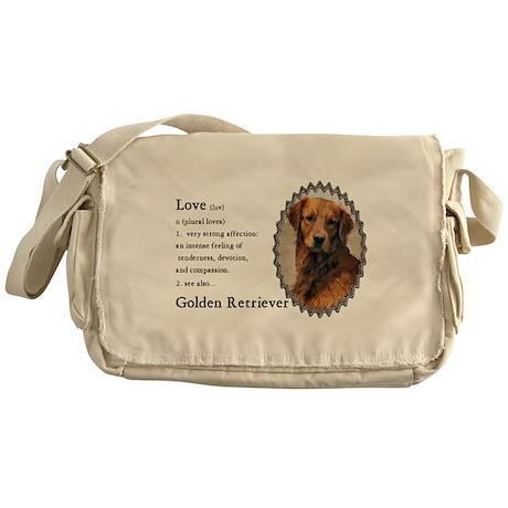 Golden Retriever Gifts Messenger Bag