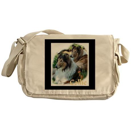 Collie Art Gifts Messenger Bag