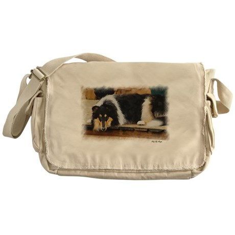 Tri Color Collie Messenger Bag