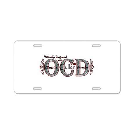 Obsessive Cullen Disorder Aluminum License Plate
