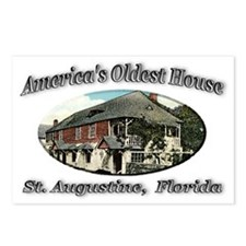 America's Oldest House Postcards (Package of 8)