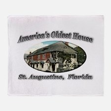 America's Oldest House Throw Blanket