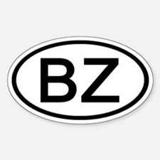 BZ - Initial Oval Oval Decal