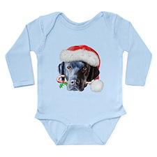 Blaclk Lab Christmas Long Sleeve Infant Bodysuit