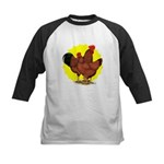 Production Red Sunburst Kids Baseball Jersey