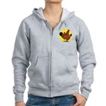 Production Red Sunburst Women's Zip Hoodie