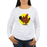 Production Red Sunburst Women's Long Sleeve T-Shir