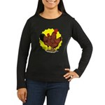 Production Red Sunburst Women's Long Sleeve Dark T