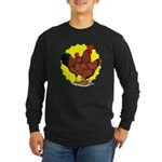 Production Red Sunburst Long Sleeve Dark T-Shirt