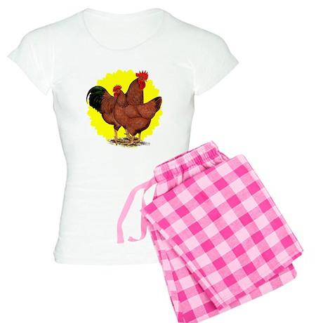 Production Red Sunburst Women's Light Pajamas