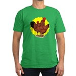 Production Red Sunburst Men's Fitted T-Shirt (dark
