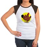 Production Red Sunburst Women's Cap Sleeve T-Shirt