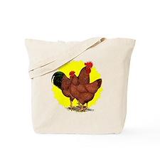 Production Red Sunburst Tote Bag