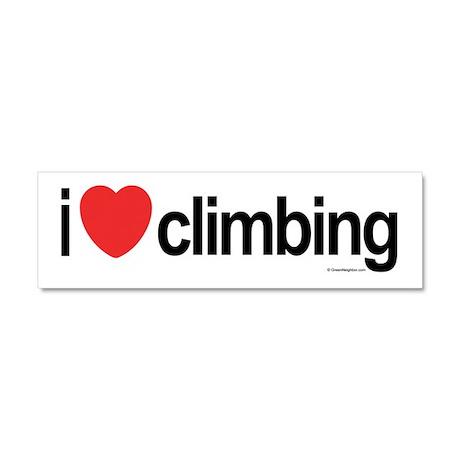 I Love Climbing Car Magnet 10 x 3