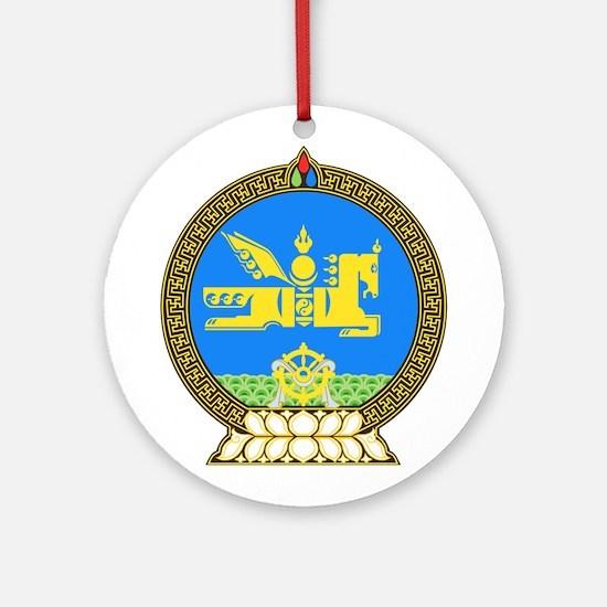 Mongolia Ornament (Round)