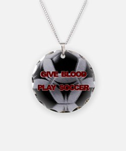 Give Blood, Play Soccer Necklace