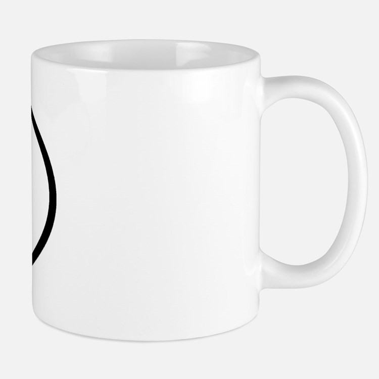 BX - Initial Oval Mug