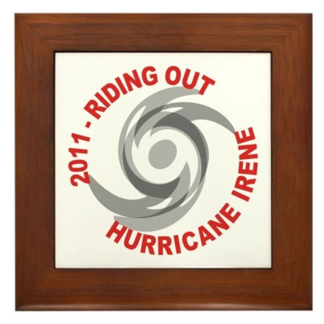 Riding Out Hurricane Irene Framed Tile
