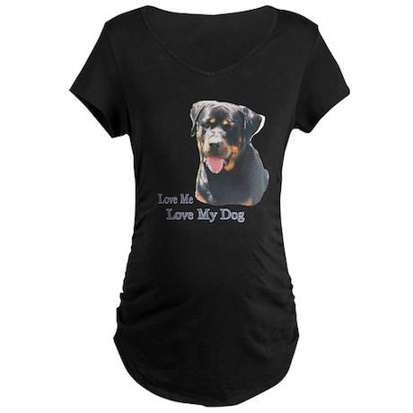 Love Me Love My Dog Maternity Dark T-Shirt