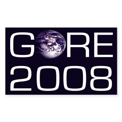 Earth Al Gore 2008 Bumper Decal