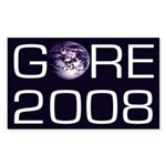 Earth Al Gore 2008 Bumper Sticker
