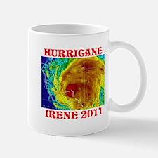 Hurricane Irene Map Logo Mugs