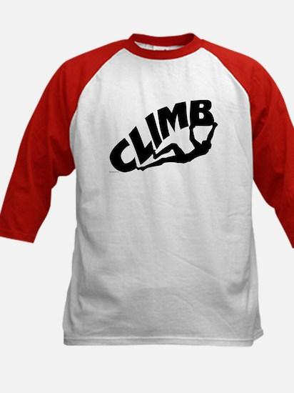 Rock Bouldering Kids Baseball Jersey