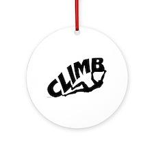 Rock Bouldering Ornament (Round)