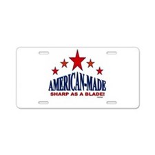 American-Made Sharp As A Blade Aluminum License Pl