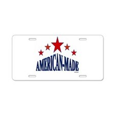 American-Made Aluminum License Plate