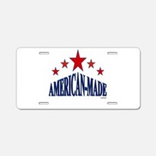 American-Made Aluminum License Plate